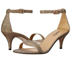 Vaneli strappy gold heels